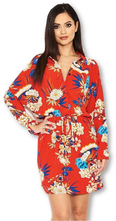 4bab82f1ee AX Paris Women Floral Print Tie Waist Shirt Dress in 2019 | Products ...