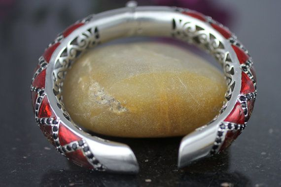 925 Sterling Silver Bracelet, glamorous, Large Bracelet, Diner Bracelet, Party Bracelet, Jewelry