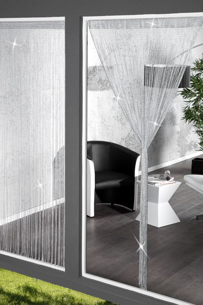 Design Glitzer Fadenvorhang WATERFALL Raumteiler