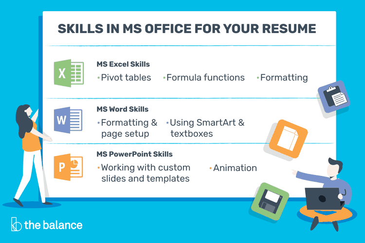 In Demand Microsoft Office Skills For Your Resume Resume Skills Cover Letter For Resume Word Skills