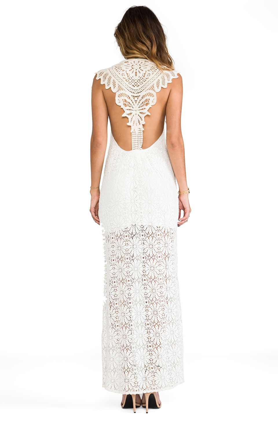 If I had a wedding board this dress would go on it. #lace #maxi