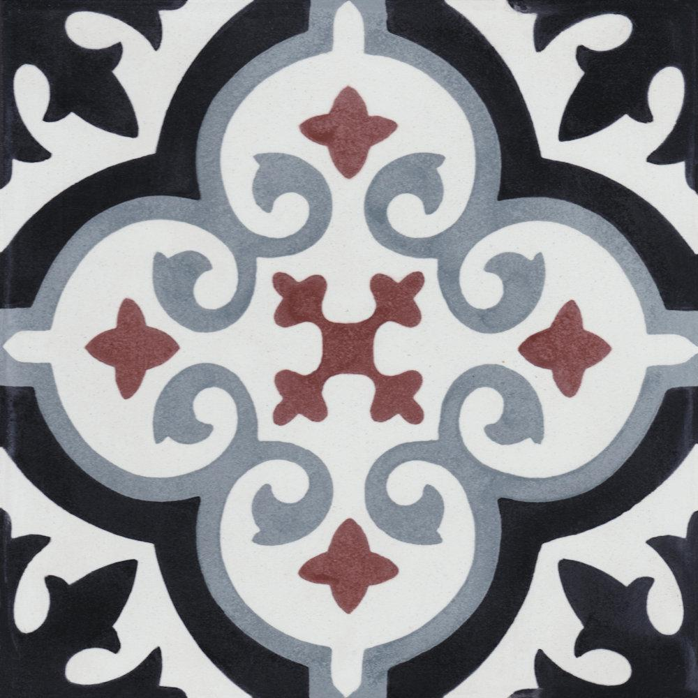 Villa Lagoon Tile Fiore E Winter 8 In X 8 In Cement Handmade Floor And Wall Tile Box Of 16 6 96 Sq Ft Sb20sq12fr Frre5 S1 The Home Depot Villa Lagoon Tile Cement