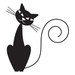 Black cat - vector