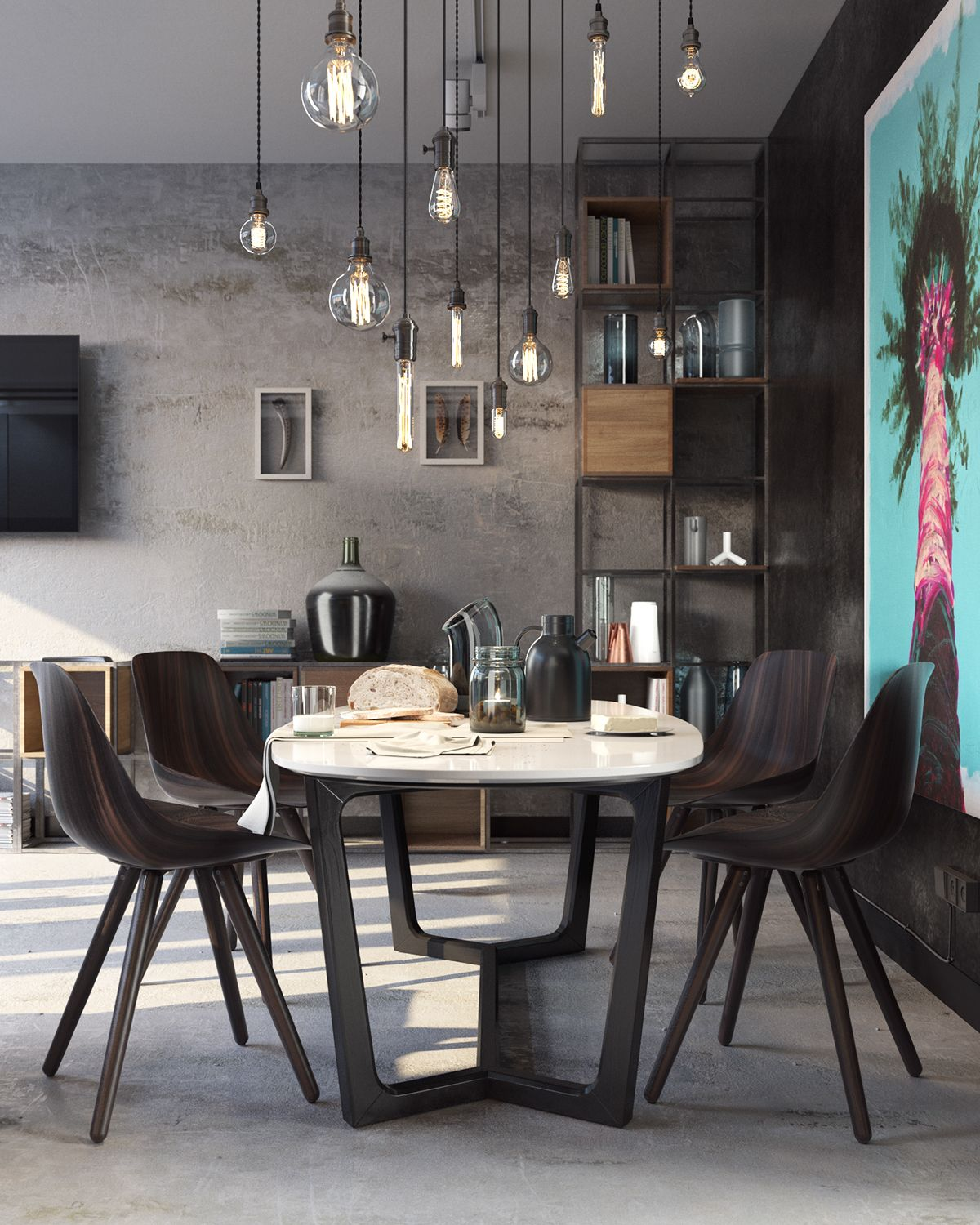 Modern Table With Chairs Sydney Studio On Behance Apartments Kitchen Interior Dining