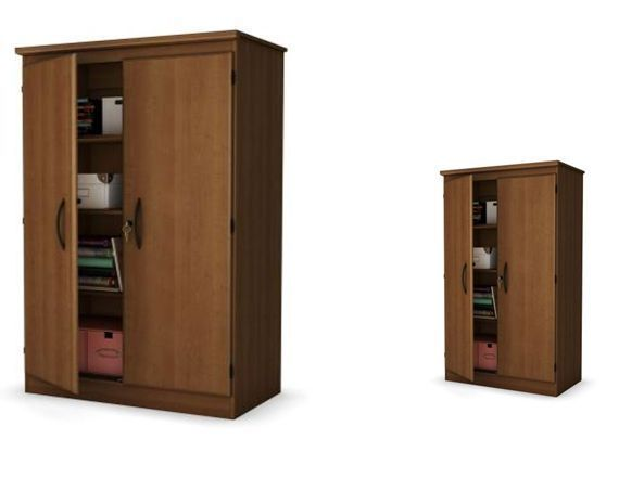 Laminate Storage Cabinet with Shelves Cherry Multi-Purpose Home Low Price Sale