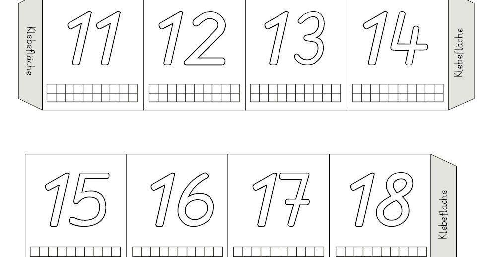 Zahlen bis 20 kennenlernen