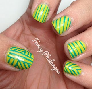 Fancy Phalanges: Teal Tuesday: Stripes