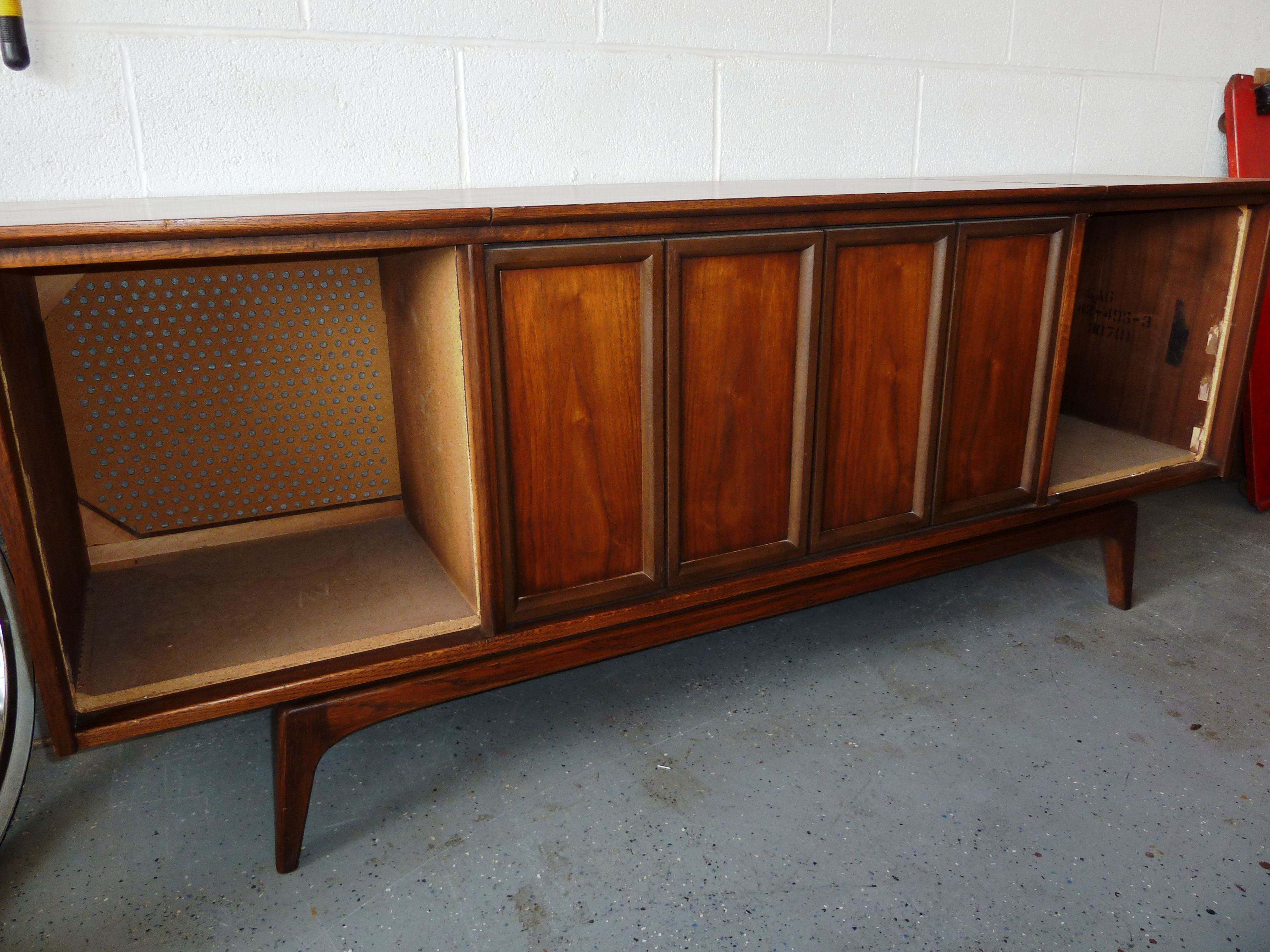 This Console Stereo By Sears Is In The Process Of Being Converted