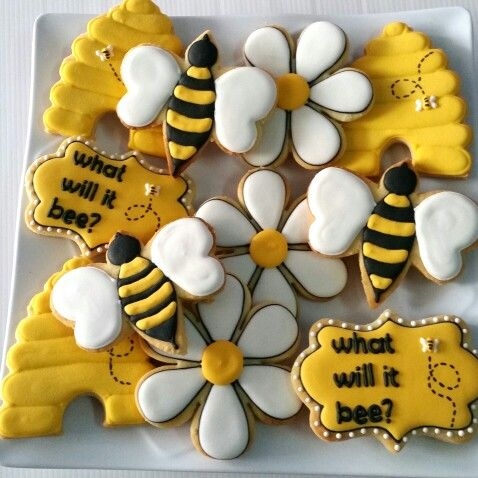 Bee Themed Cookies For Baby Shower