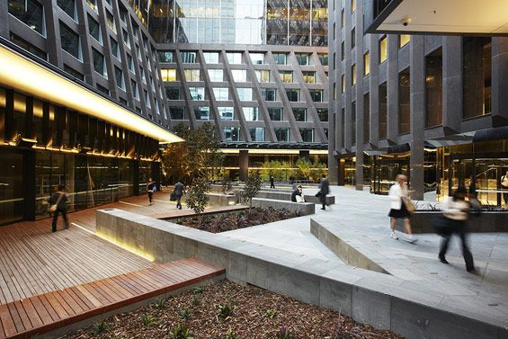 St james plaza melbourne australia aspect studios for Urban design architects melbourne