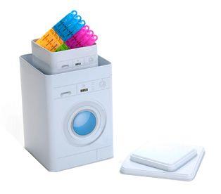 Kit Latas e Pregadores Máquina de Lavar AZUL