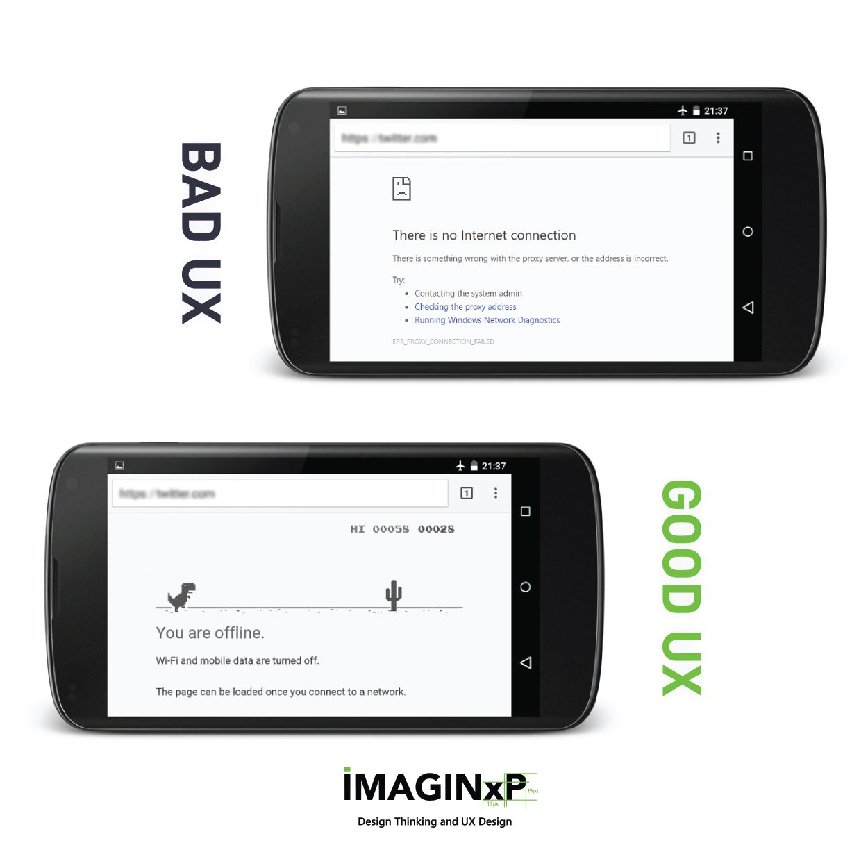 Bad UX vs Good UX Follow imaginxp and stay updated! https