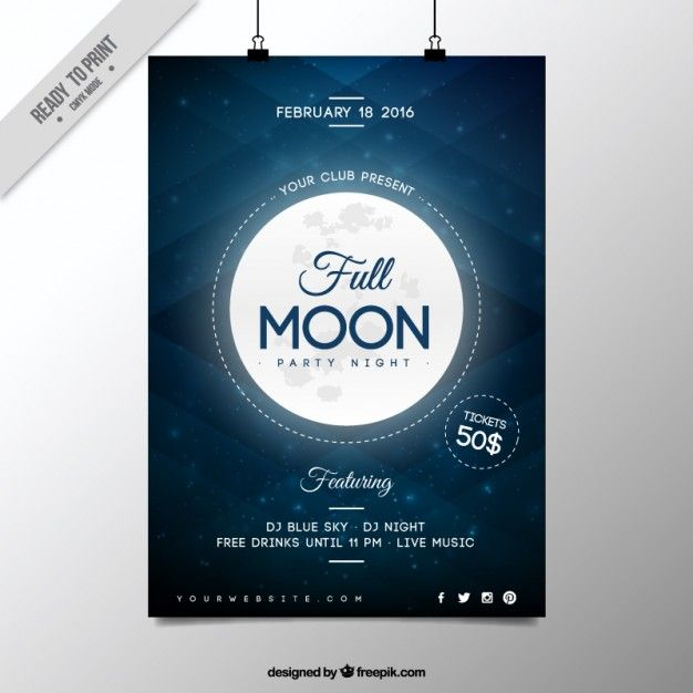 Download Full Moon Party Night Poster For Free Full Moon Party Moon Party Full Moon