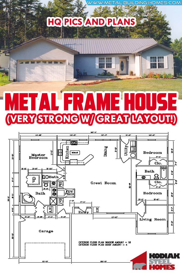 Very Strong Metal Frame House W Great Layout Hq Plan Pictures Metal Building Homes Metal House Plans Building A House