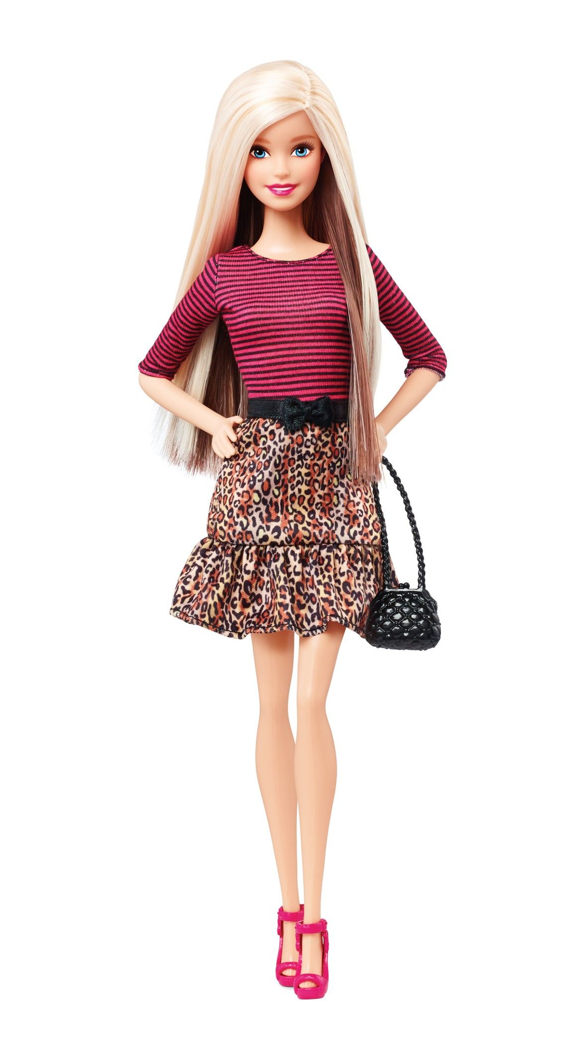 Barbie Fashionistas Doll With Blonde And Brunette Hair In Leopard