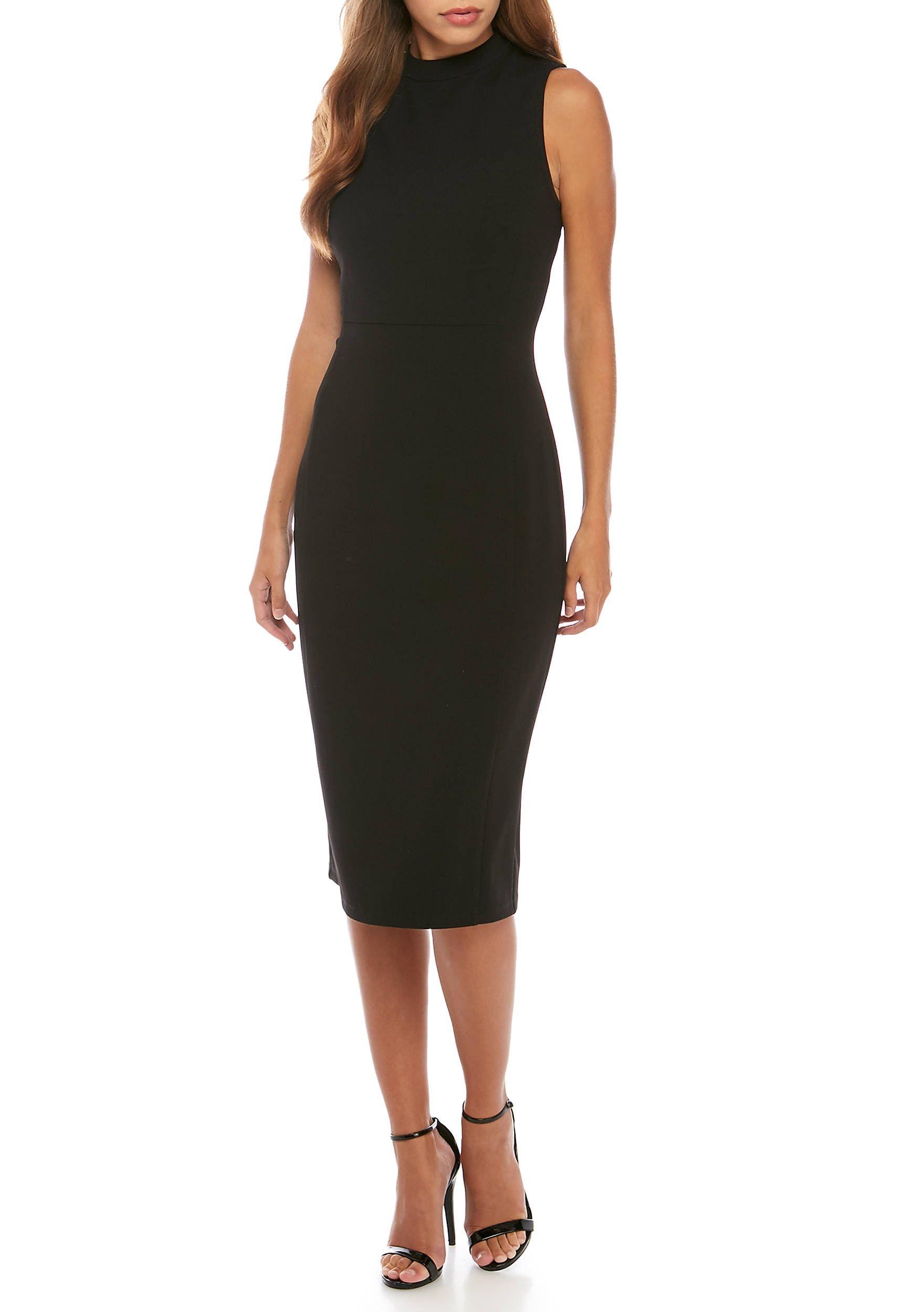 818954669b0c Nine West Drape Crepe Mock Neck Sheath Dress | LBD | Sheath Dress ...