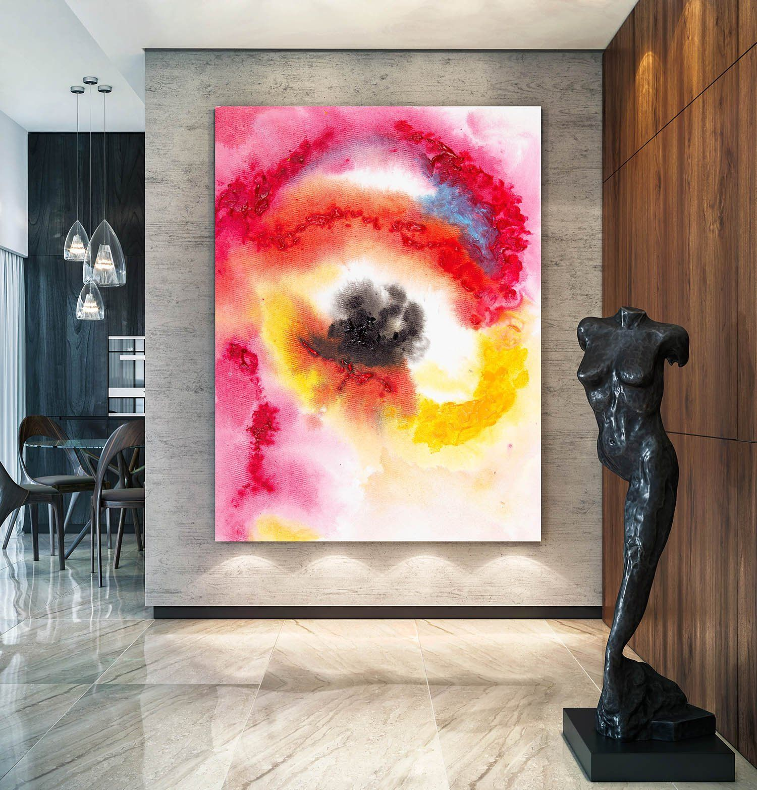Large Acrylic Art Textured Painting Palette Knife Abstract Canvas Art Oversized Paintings Extra Large Painting On C Abstract Canvas Art Modern Art Diy Painting