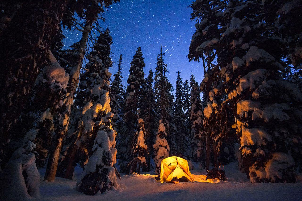Elk Meadows camping in the winter -Oregon | Winter camping ...
