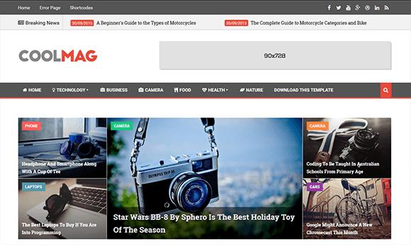 Cool Mag Blogger Template é um template blogger portal de notícias ...