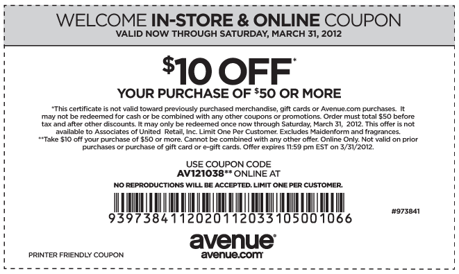 Avenue Childrens Place Coupons Print Coupons Printable Coupons