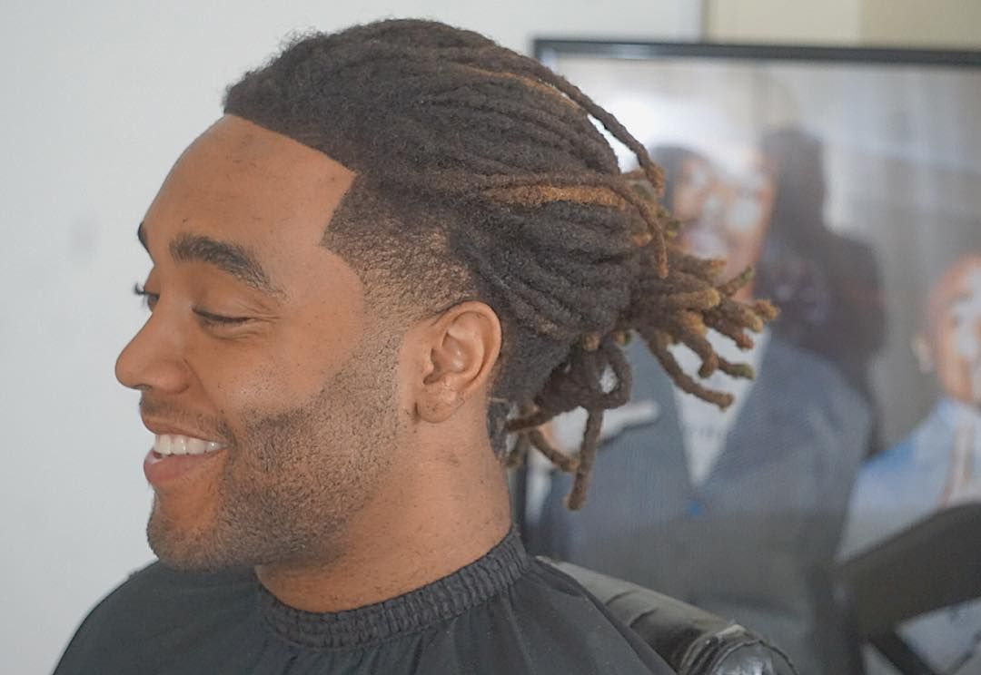 tiny locks into ponytails   dread locks styles for man