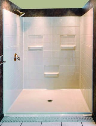 Five Piece 60 X 48 Barrier Free Shower With 1 Inch Beveled