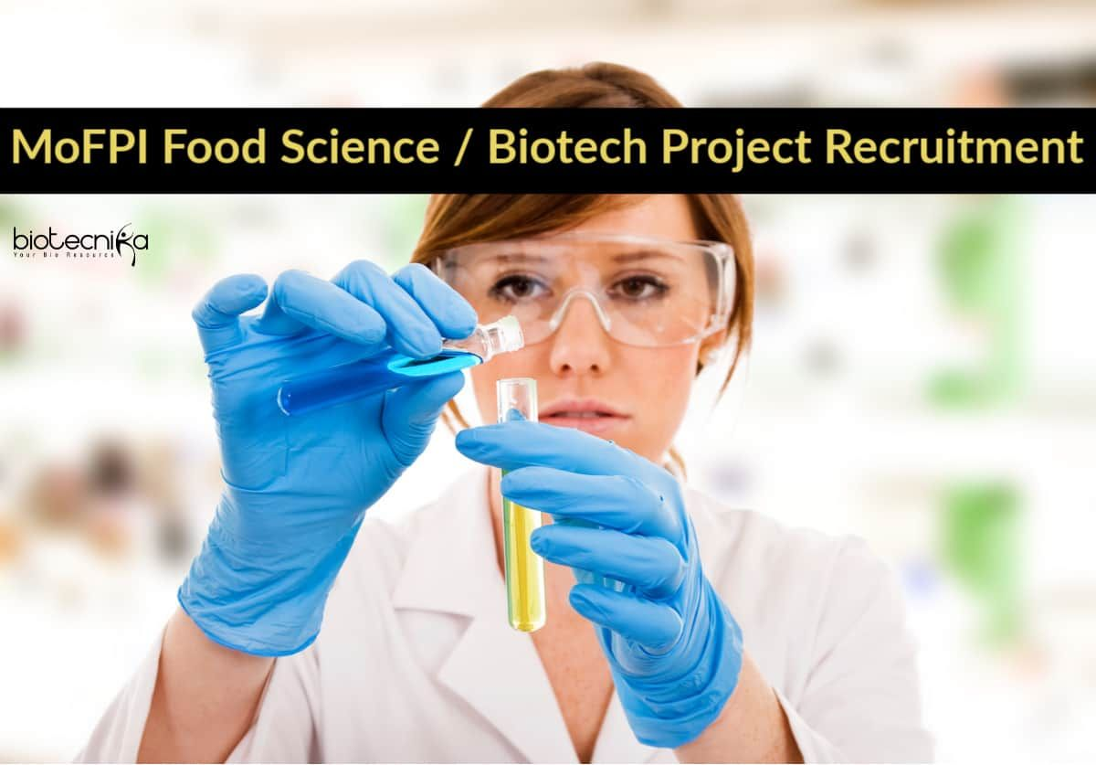 Mofpi Food Science Biotech Project Recruitment At Pondicherry University University Food Science Food Science