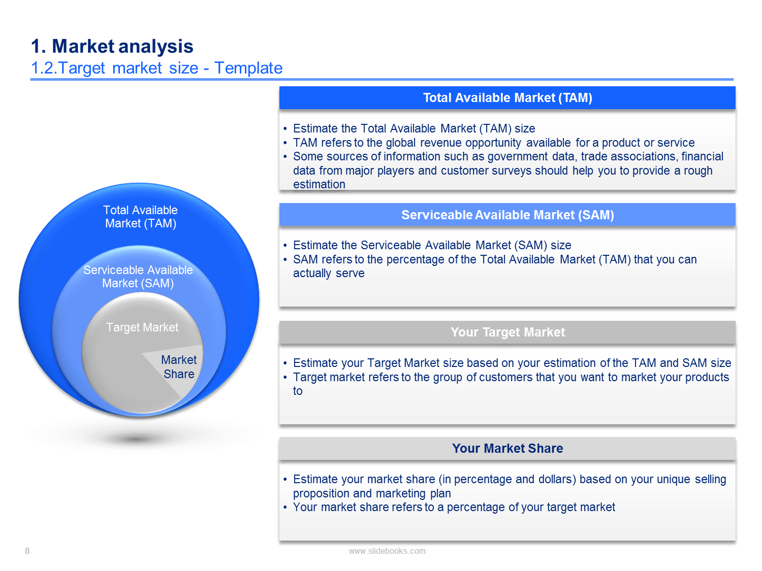 Market & Competitor Analysis Template Simple business