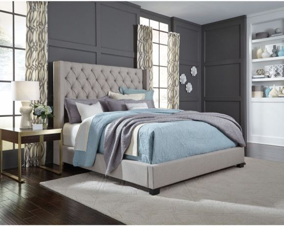 Westerly Bed Collection Grey Upholstered Bed Luxurious Bedrooms Bedroom Sets