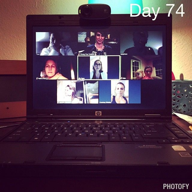 """""""Day 74 - every week I am blessed to be able to have a meeting with my team of wonderful coaches!  We've got people from Texas, North Carolina. Alabama,…"""""""