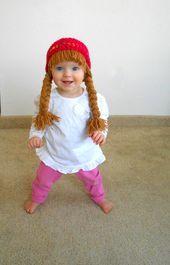 Baby Hut Kohl Patch Hut Pigtail WIg Kostüm Foto Requisiten Halloween Kostüm  Baby Hut Zopf Perücke Kohl Patch Kostüm Foto Requisiten von YumbabY