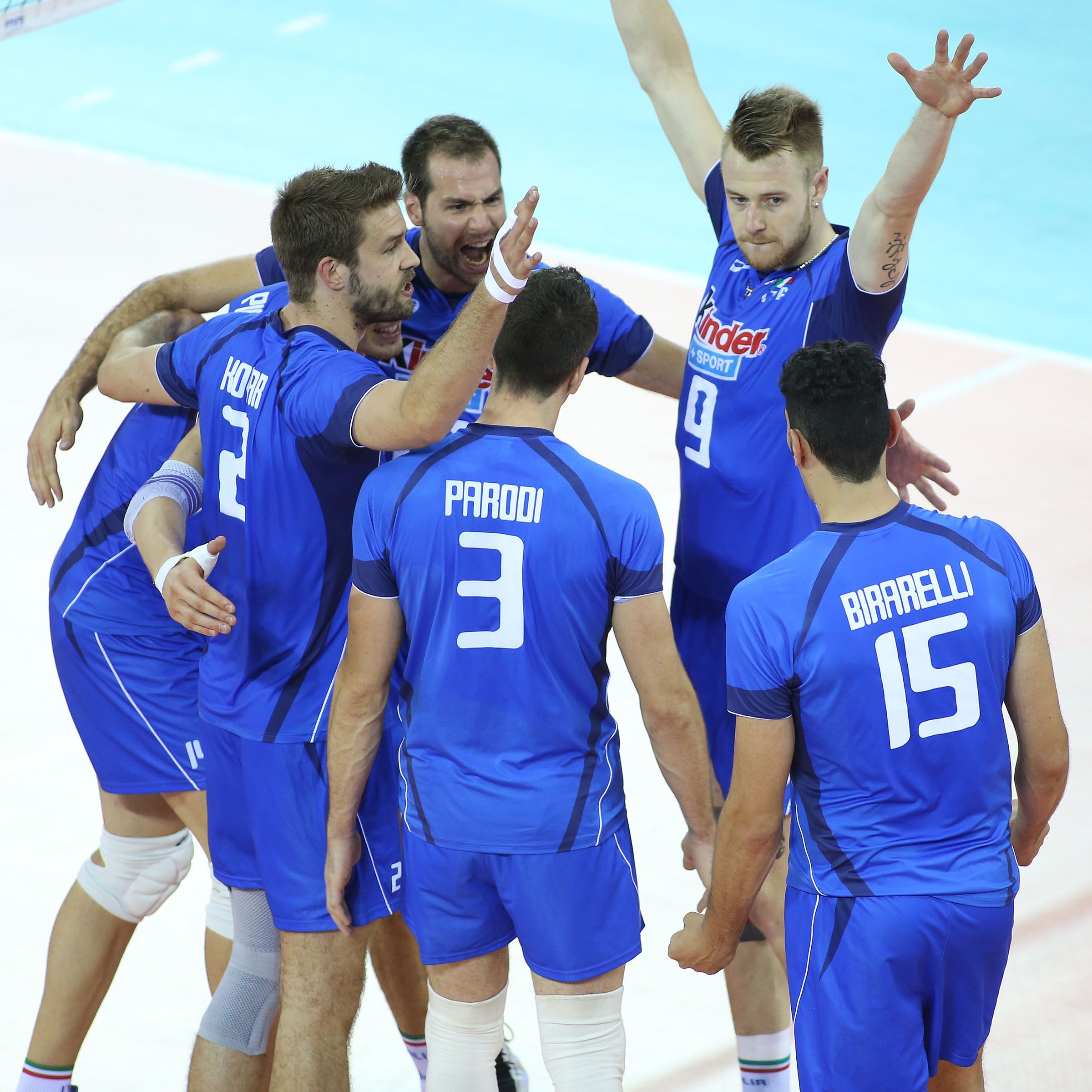 Italy Celebrates Winning The First Set Against Usa In The World League Final Six Match Of The 2014 World League Celebrities League Players