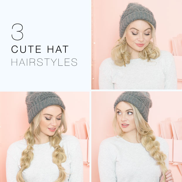 Cute Hairstyles With Beanie Thelatestfashiontrends Com Winter Hat Hairstyles Hair Styles Beanie Hairstyles