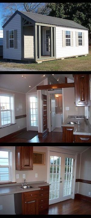 tiny house and small space living tiny house ideas pinterest kleines h uschen haus and. Black Bedroom Furniture Sets. Home Design Ideas