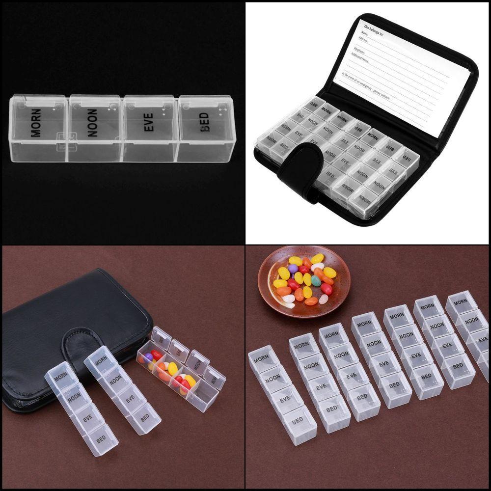 7 Day Pill Box Tablet Weekly Medicine Dispenser Organiser