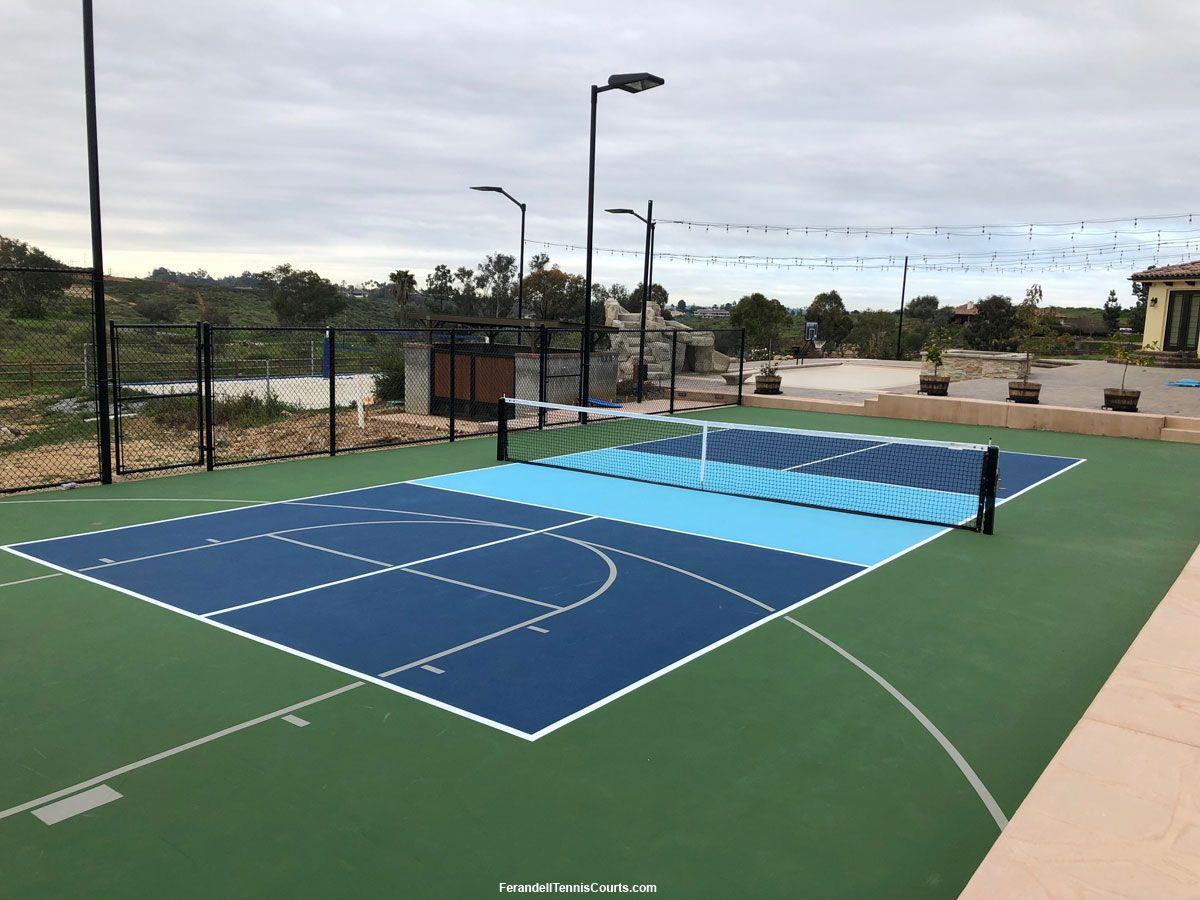 Multi Game Court For Basketball Pickleball Construction Pickleball Court Basketball Court Court