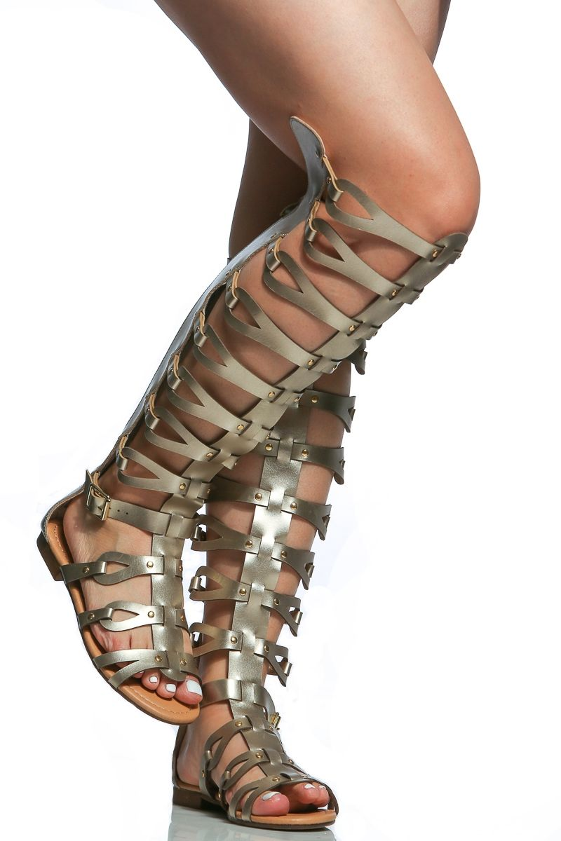 249494f1074 ... first rate Gold Faux Leather Gladiator Sandals Cicihot Sandals Shoes  online store saleSandals