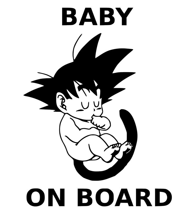 Baby on board goku vinyl sticker decal