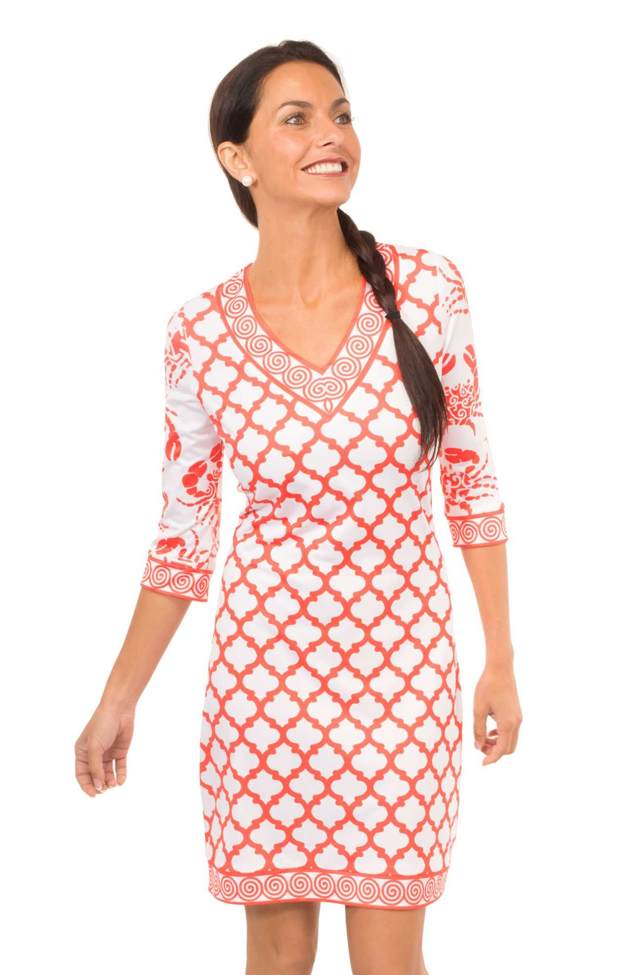 Gretchen Scott Crab Soup V-Neck Jersey Dress in Tomato from THE ...