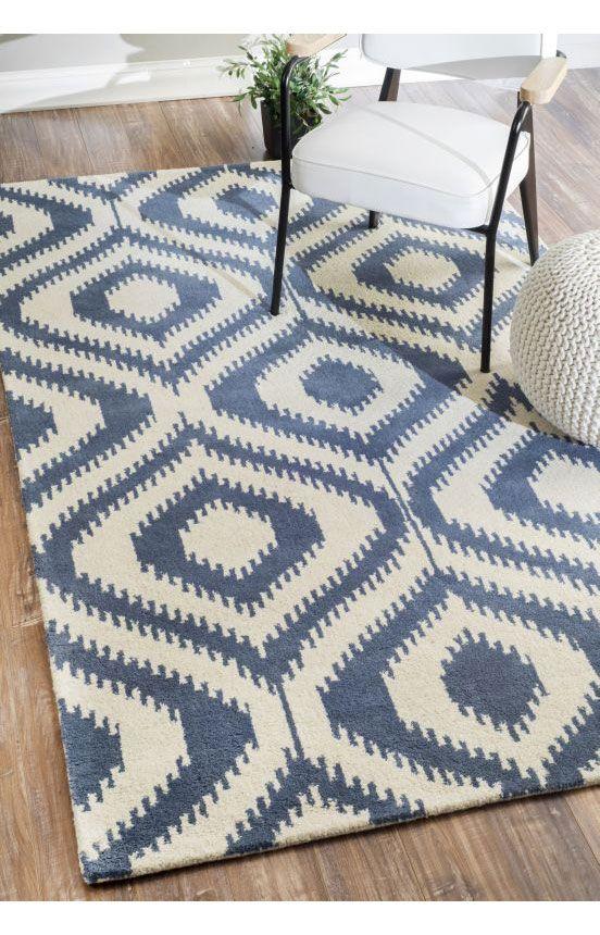 rugs usa savanna ikat lattice ve12 blue rug rugs usa pre black friday sale 75 off area rug. Black Bedroom Furniture Sets. Home Design Ideas
