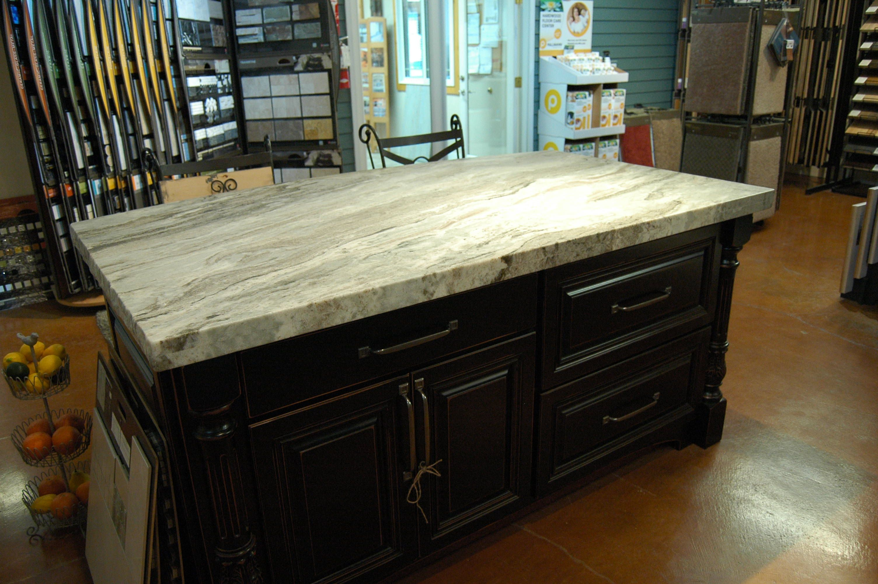 "Fantasy Brown Satin"" Quartzite with double chiseled edge"