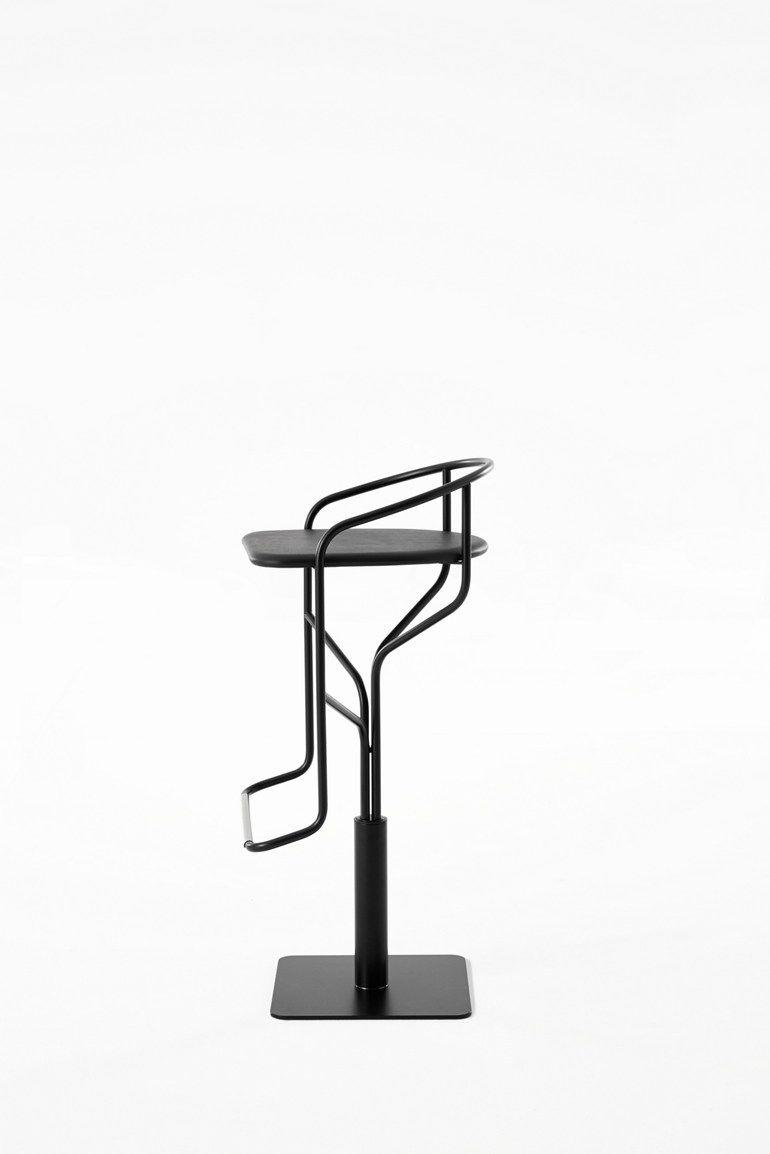 Steel Stool With Footrest Ike Stool Desalto Design