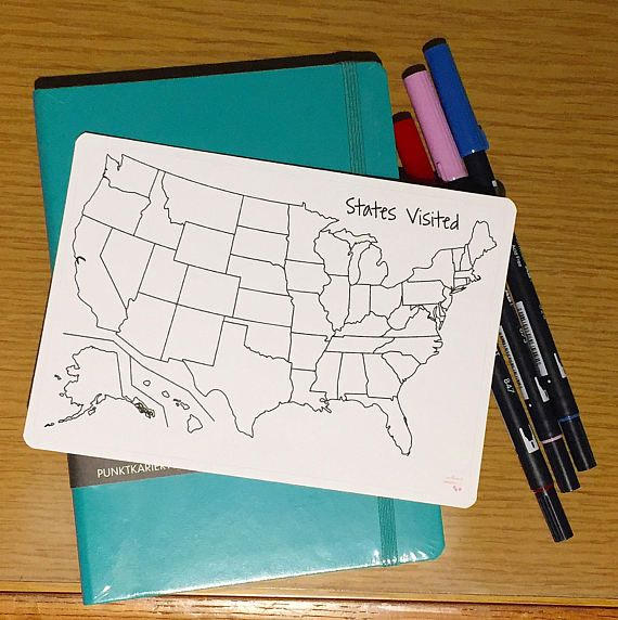 HD Decor Images » US States Visited Sticker for Bullet Journal   Redhead Paper     US States Visited Sticker for Bullet Journal