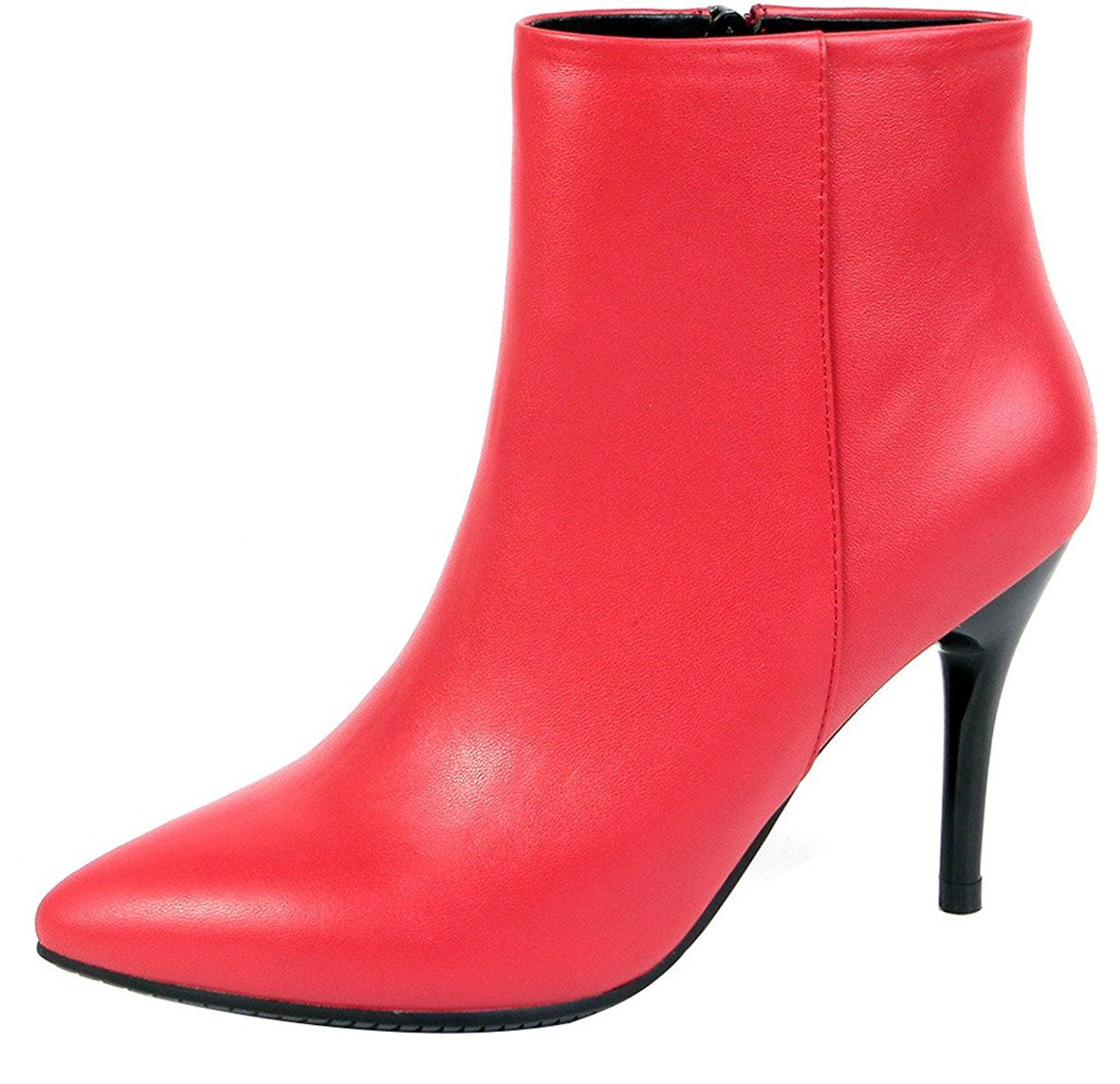 ELEHOT Womens Elemodern 9CM high-heel Boots *** This is an Amazon Affiliate link. Click image to review more details.