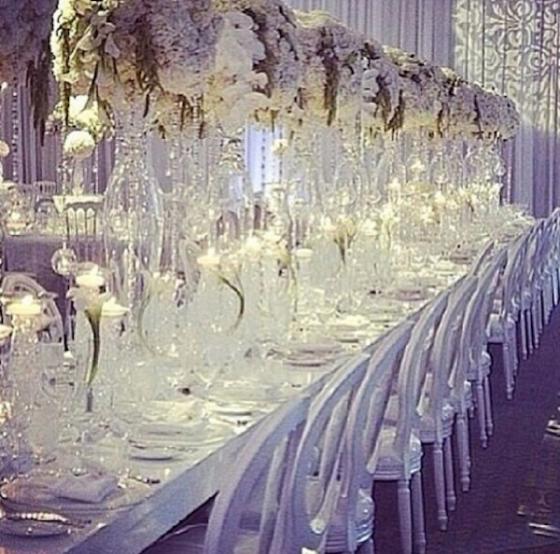 Inside Kim Kardashian And Kanye West Wedding Ceremony Dinner Event Decorreception