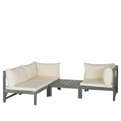 "Safavieh Lynwood 3-piece Outdoor Sectional Sofa Set ""$1"
