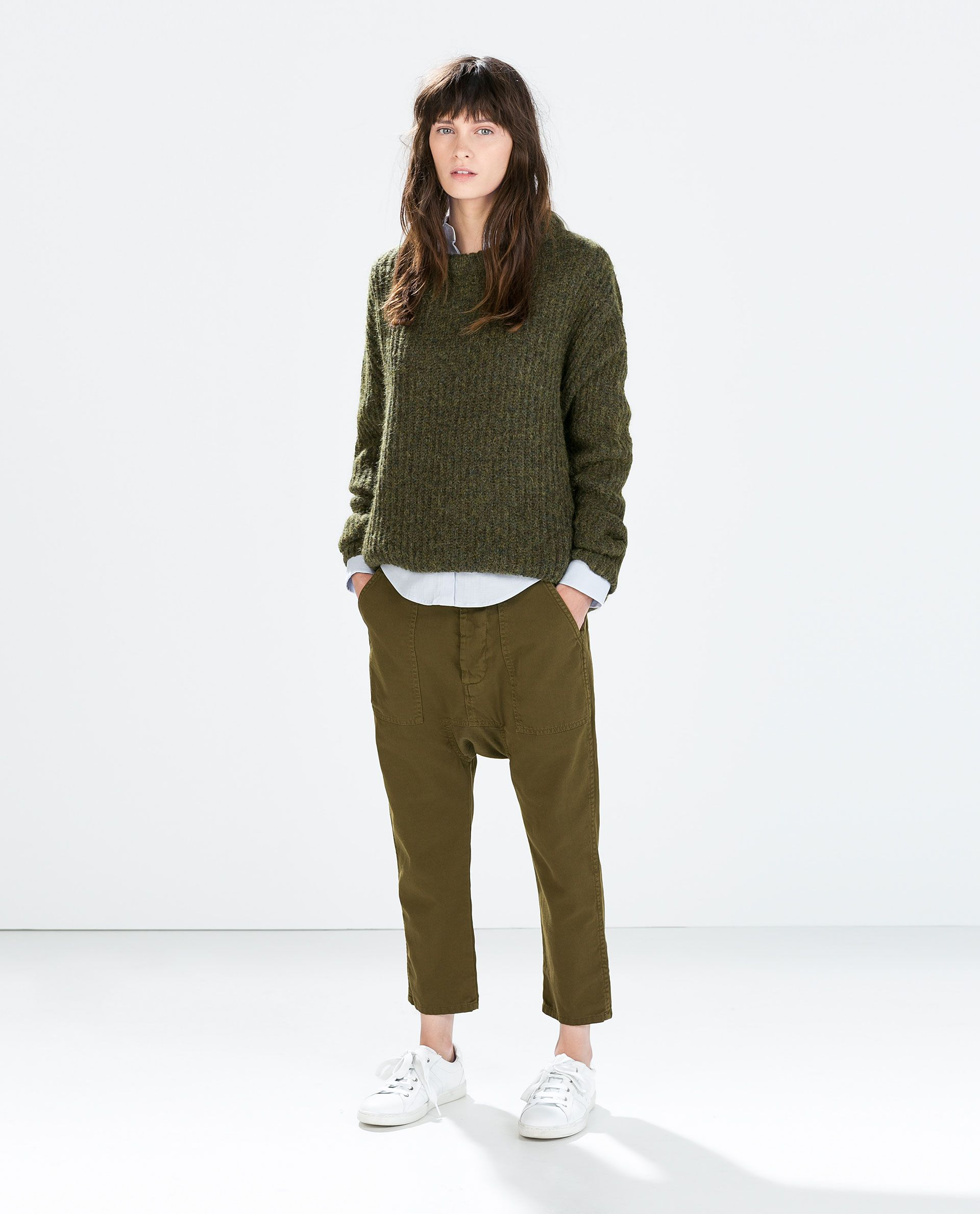 60afde659 Image 1 of DROP CROTCH SWEATPANTS from Zara