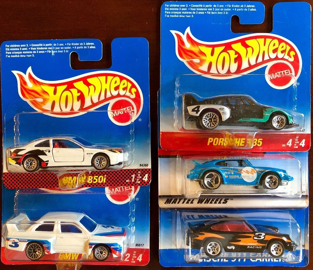 ced965e413d Hot Wheels Vintage Porsche BMW Lot of 5 RARE International Variations Short  Card