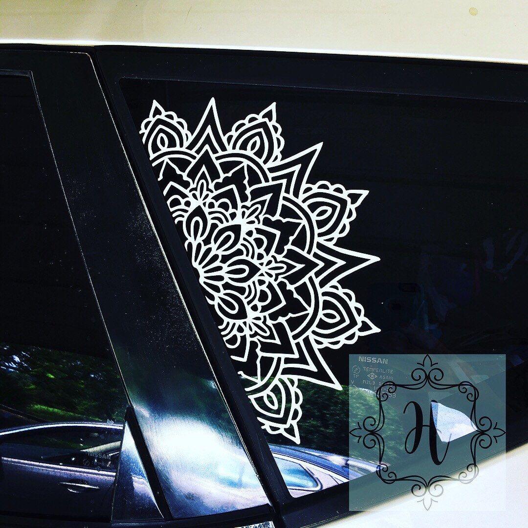 Mandala Car Decal Half Mandala Sacred Geometry Decal Mandalas Boho Hippie Bohemian Spiritual Geometry Decal Custom Car Decal Car Decal Hippie Custom Car Decals Car Decals [ 1080 x 1080 Pixel ]