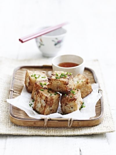 Crispy Turnip Cake With Chilli Sauce Receta Chinese